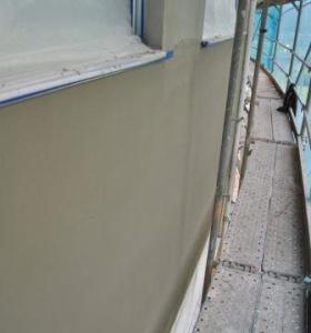 Aplicación mortero fachada