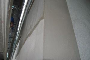 Aplicación pasteo mortero fachada