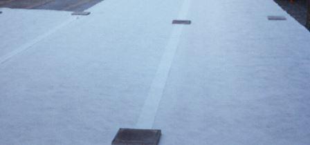 Instalación geotextil terraza PVC