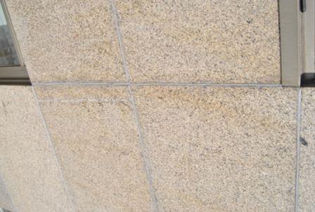 Junta sellado piedra fachada