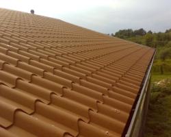 Tejados de panel sandwich fachadas tejados - Cubiertas imitacion teja ...