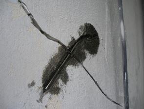 Reparación grietas gresite vitraico