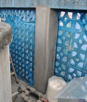 Reparación pilar hormigón