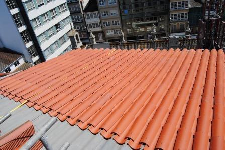 Tejados de teja arabe trendy tejado de teja rabe de for Tejados de madera con teja